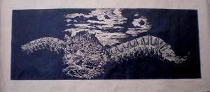 2007 Krajina columna Linoryt (1) 160 x 75 cm