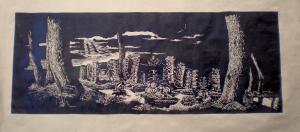 2007 Krajina columna Linoryt (2) 160 x 75 cm