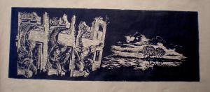 2007 Krajina columna Linoryt (3) 160 x 75 cm