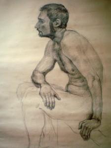 2009 figuralni kresba tuzka na papire 160 x 95 cm (2)