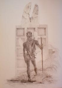 2011 Stopař tužka na papíře 100 x 70 cm