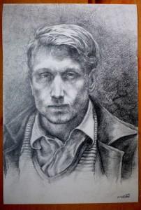 2018, portrét 40 x 60 tužka
