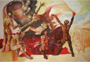 2007 napínači plátna akryl na plátně 205 x 285cm