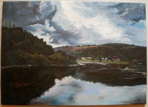 2011 Krajina akryl na plátně 70 x 50 cm
