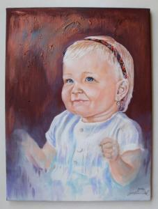 2012 Portrét akryl na plátně 35 x 25 cm