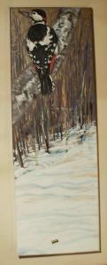 2012  strakapoud akryl na plátně 60 x 20 cm