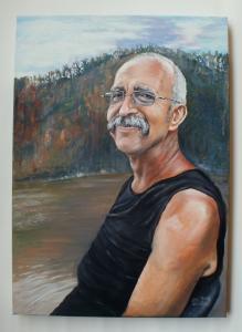 2012 portrét  akryl na plátně 60 40 cm