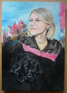 2013 Tereza  akryl na plátně 70 x 50 cm