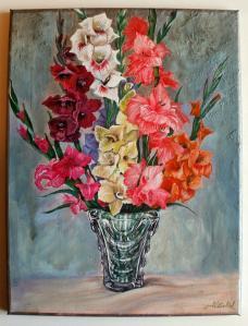 2014 Gladioly akryl na plátně  40 x 30 cm