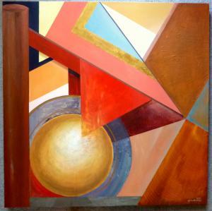 2015 Geometrická kompozice akryl na plátně 100 x 100 cm