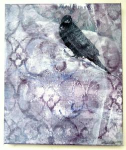 2015 V krajině za krajkou 1 akryl na plátně 30 x 25 cm
