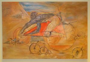 2015 Zrod cyklistiky akryl na plátně 120 x 80 cm