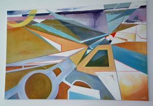 2016 Brno akryl na plátně 200 x 130 cm