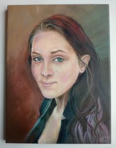 2016 Marie olej na plátně 40 x 30 cm
