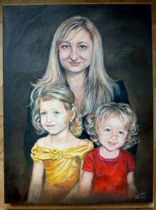 2016 Trojportret akryl a olej na platne, 80 x 60 cm