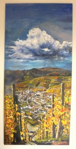 2017 Dernau, akryl na plátně, 150 x 70 cm