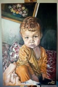 2017 Portrét chlapce,akryl na plátně 60 x 40 cm