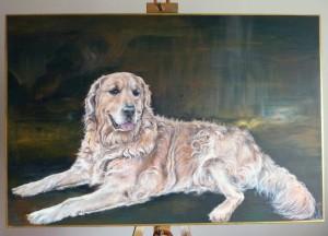 Pes, ručně malované obrazy