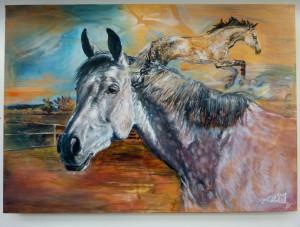 2018, Portrét, akryl na plátně, 70 x 50 cm